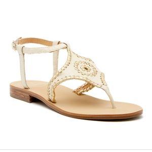 NIB Jack Rogers Maci Flat Ankle Strap Sandal SZ 7
